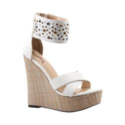 Women's Luichiny Min Dee Wedge Sandal White Imi Leather