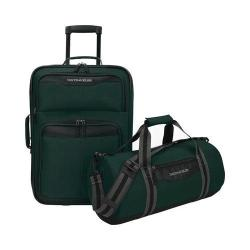 US Traveler Hillstar 2-Piece Casual Luggage Set Forest