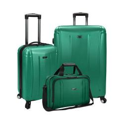 US Traveler Hytop 3-Piece Spinner Luggage Set Green
