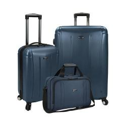 US Traveler Hytop 3-Piece Spinner Luggage Set Navy