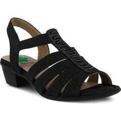 Women's Spring Step Marisol Ankle Strap Sandal Black Manmade