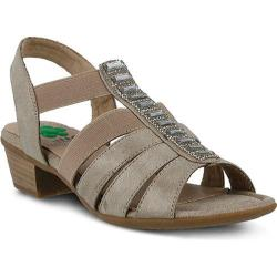 Women's Spring Step Marisol Ankle Strap Sandal Taupe Manmade