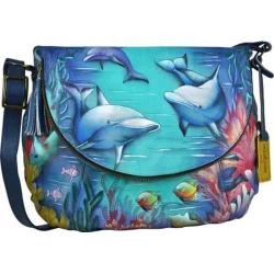 Women's Anuschka Large Flap-Over Convertible Dolphin World