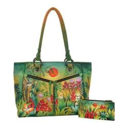 Women's Anuschka Large Shopper with Front Pockets Rousseau's Jungle