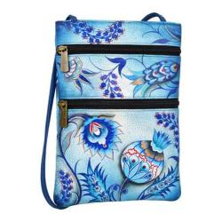 Women's Anuschka Mini Double Zip Travel Crossbody Bewitching Blues