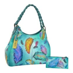 Women's Anuschka Triple Compartment Shopper Floating Feathers
