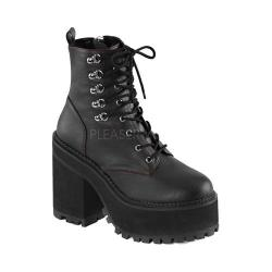 Women's Demonia Assault 100 Ankle Boot Black Vegan Leather