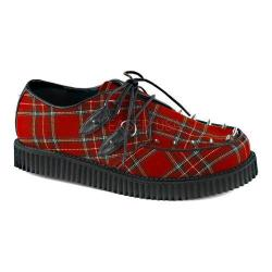 Men's Demonia Creeper 603 Plaid Creeper Red Plaid Fabric