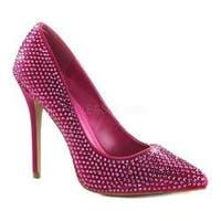 Women's Fabulicious Amuse 20RS Pump Hot Pink Satin