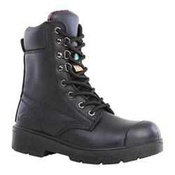 Women's Moxie Trades Anne Steel Toe Work Boot Black Leather