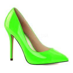 Women's Pleaser Amuse 20 Neon Green Patent