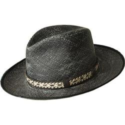 Men's Bailey of Hollywood Grimmer Fedora 22763 Black Distressed