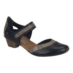 Women's Rieker-Antistress Mirjam 80 Mary Jane Black/Leinen Leather/Synthetic Combo