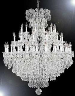 Chandelier Crystal With 37 Lights H52x W60