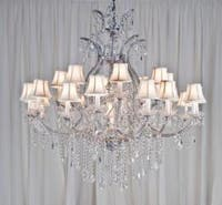 Maria Theresa Crystal Chandelier Lighting H52 x W46 With Shades