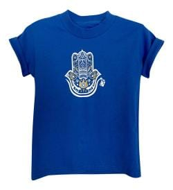KID'S HAMZA HAND TEE- BLUE