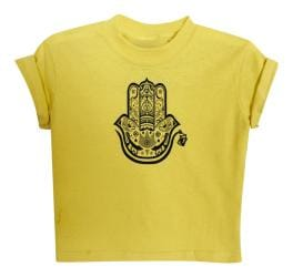 KID'S HAMZA HAND TEE-YELLOW