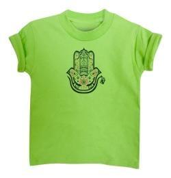 KID'S HAMZA HAND TEE-LIME GREEN