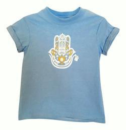 KID'S HAMZA HAND TEE- LIGHT BLUE