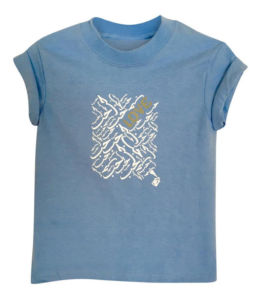 LITTLE GIRL'S LOVE TEE- BABY BLUE
