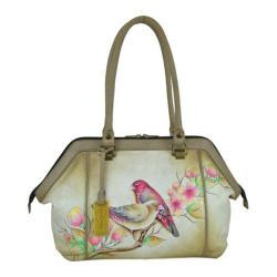 Women's Anuschka Hand Painted Large wide Satchel Summer Tryst