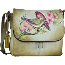 Women's Anuschka Hand Painted Zip Around Organizer Satchel Summer Tryst