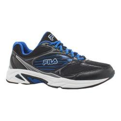 Men's Fila Inspell 3 Running Shoe Black/Dark Silver/Prince Blue