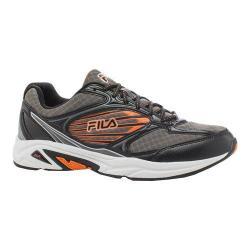 Men's Fila Inspell 3 Running Shoe Dark Silver/Black/Vibrant Orange