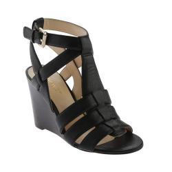 Women's Nine West Farfalla Sandal Black2 Leather