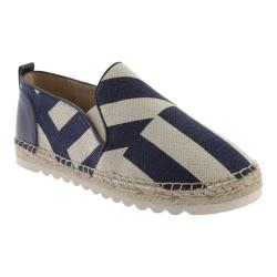 Women's Nine West Noney Slip-on Navy Multi Linen