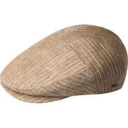 Men's Bailey of Hollywood Mogen Flat Cap 90082 Tobacco Pinstripe