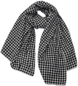 Large Houndstooth Pattern Scarf, Unisex