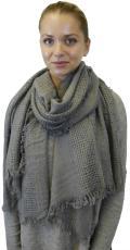Womens Warm Soft Wool Feel Fringe Scarf Shawl Wrap