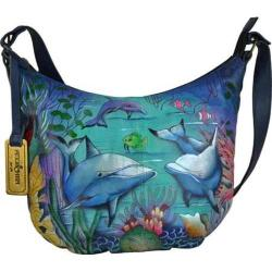 Women's Anuschka Medium Bucket Hobo Dolphin World