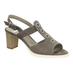 Women's ara Gale 35647 Sandal Grey Nubuck