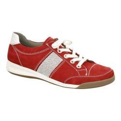 Women's ara Rickie 34429 Sneaker Red Nubuck