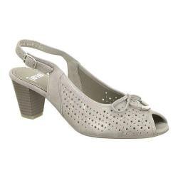 Women's ara Taryn 32069 Slingback Grey Metallic Suede