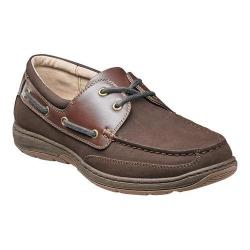 Men's Nunn Bush Outrigger 84405 Oxford Boat Shoe Dark Brown Nubuck