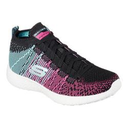 Women's Skechers Burst Sweet Symphony High Top Black/Blue/Pink