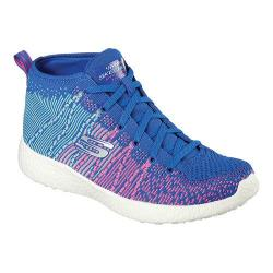 Women's Skechers Burst Sweet Symphony High Top Blue/Hot Pink