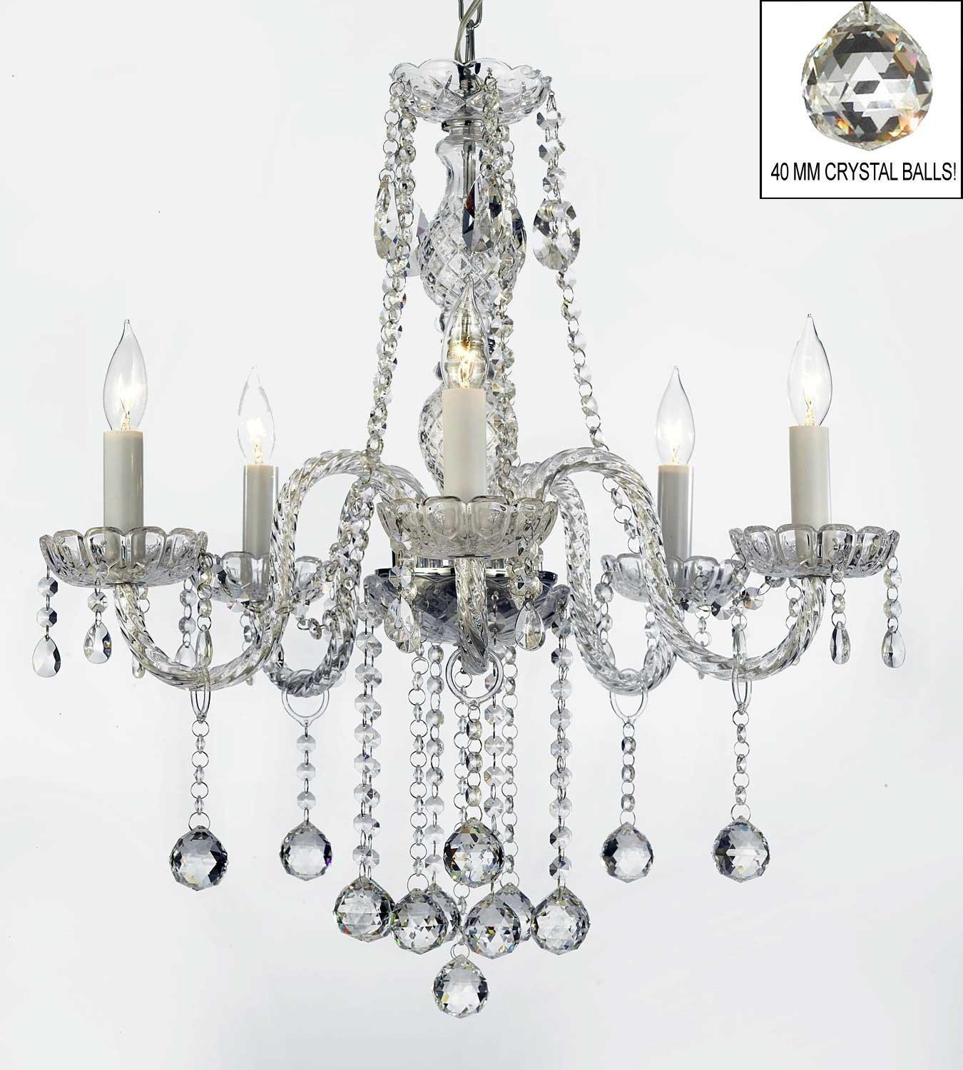 Authentic All Crystal Chandelier Lighting With Crystal Balls