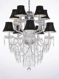 Crystal Icicle Waterfall Chandelier Lighting Dining Room Chandelier Lighting
