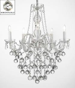 All Crystal Chandelier Lighting With 40 mm Crystal Balls - Thumbnail 0