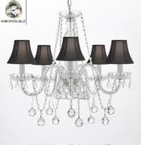 Authentic All Crystal Chandelier Lighting Empress Crystal With Black Shades
