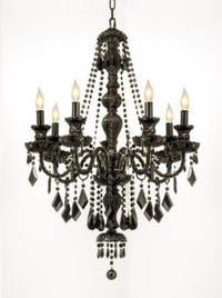 New Jet Black Gothic Crystal Chandelier Lighting H37 x W26