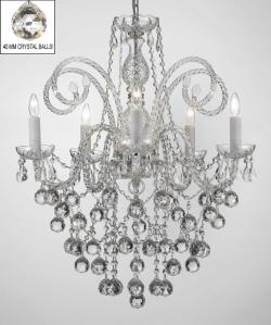 All Crystal Chandelier Lighting With 40 mm Crystal Balls