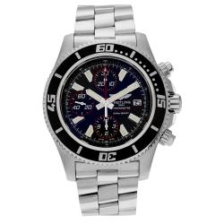 Breitling Men's SuperOcean A1334102/BA81 Chronograph Black Dial Bracelet Watch
