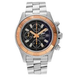 Breitling Men's Chronomat AB041210/BB48 Stainless Steel Black Onyx Dial Bracelet Watch
