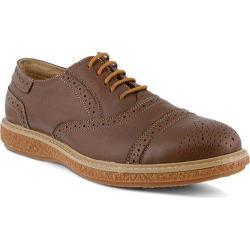 Men's Spring Step Bryan Oxford Brown Leather