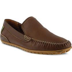 Men's Spring Step Oyster Loafer Brown Leather